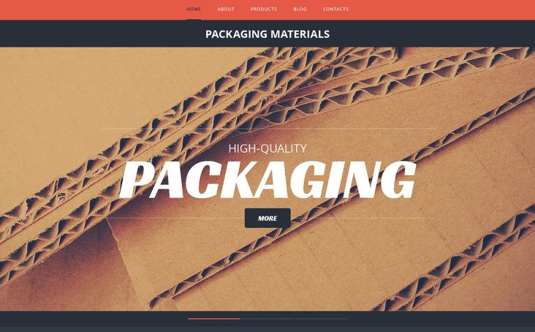 Packaging responsive website template 47175 packaging responsive website template new screenshots big pronofoot35fo Choice Image