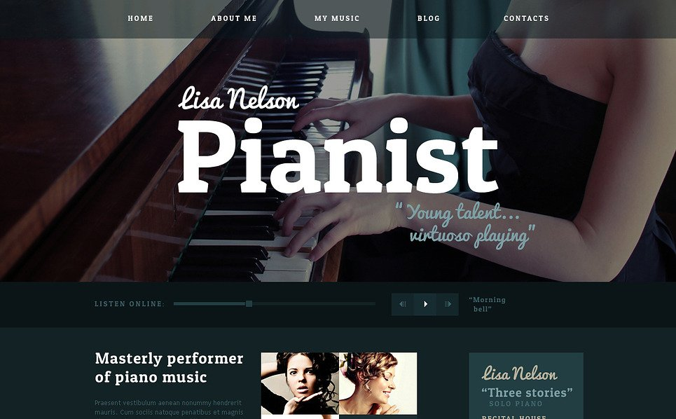 Personal Page Responsive Website Template #47126