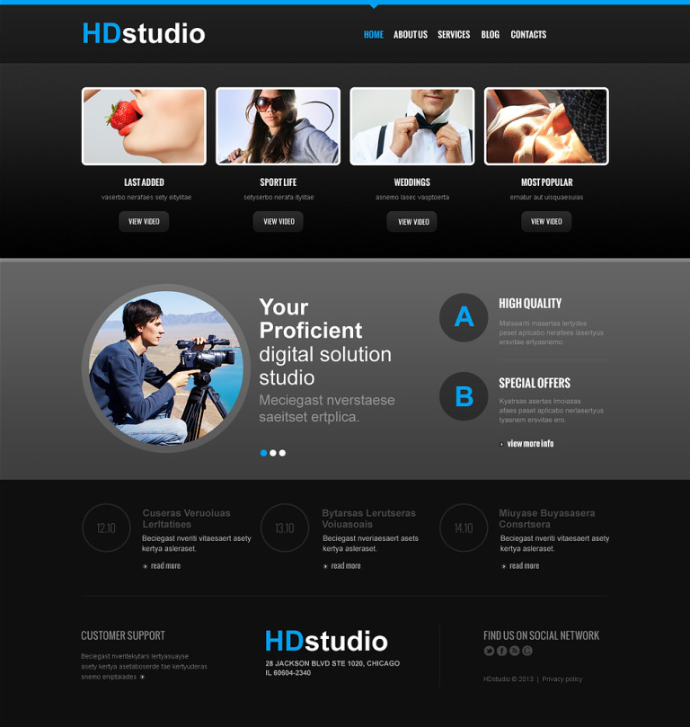 Photo Studio Responsive Joomla Template New Screenshots BIG