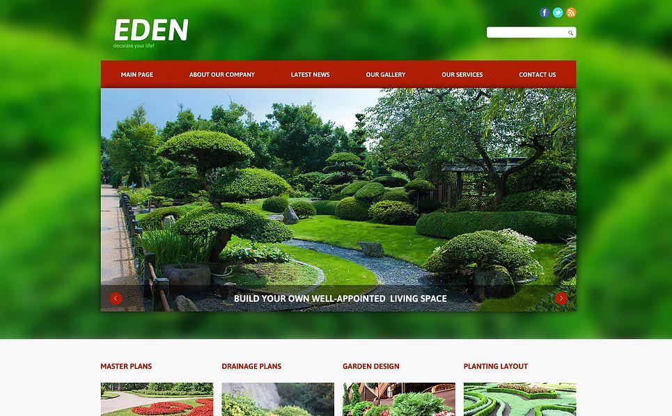 Plantilla Joomla Responsive para Sitio de Diseño de paisaje New Screenshots BIG