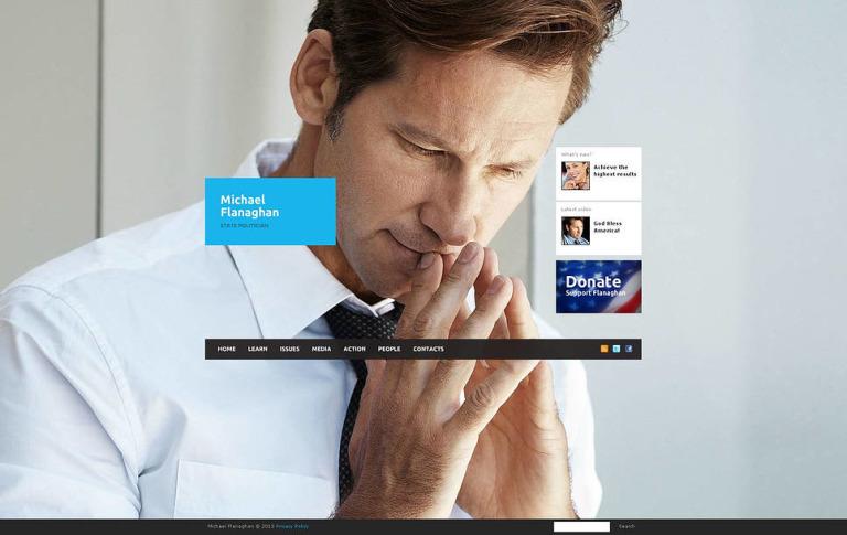 Political Candidate Flash CMS Template New Screenshots BIG