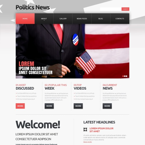 Politics News - Responsive Joomla! Template