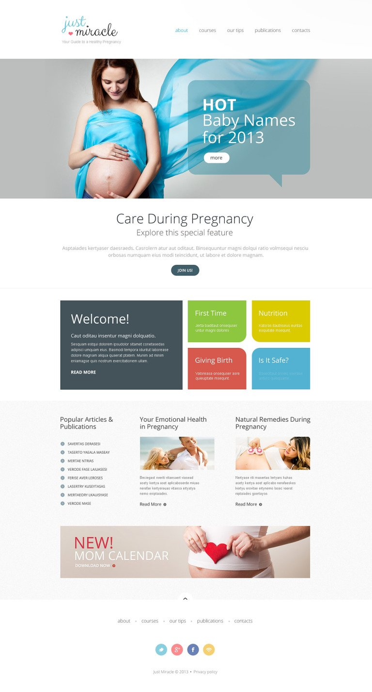 Pregnancy Responsive Website Template New Screenshots BIG
