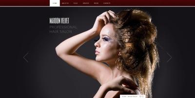 Hair Salon Responsive Moto CMS HTML Sablon