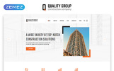 """Quality Group - Construction Company Clean Multipage HTML5"" Responsive Website template"