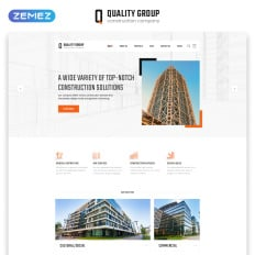 Quality Group Construction Company Clean Multipage Html5 Web Graphic Designer Resume Template