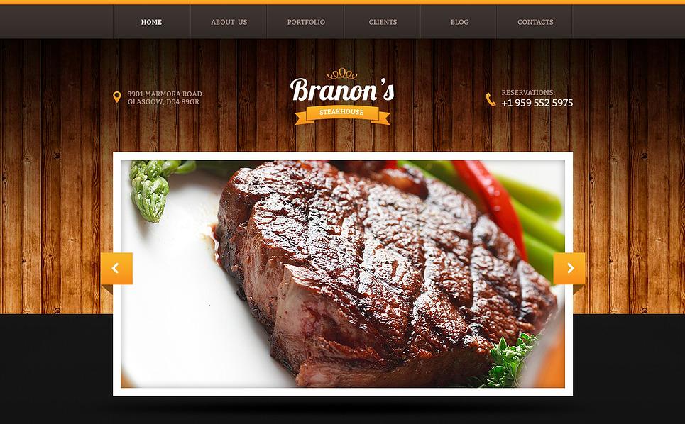 Responsive Website template over Steakhouse New Screenshots BIG