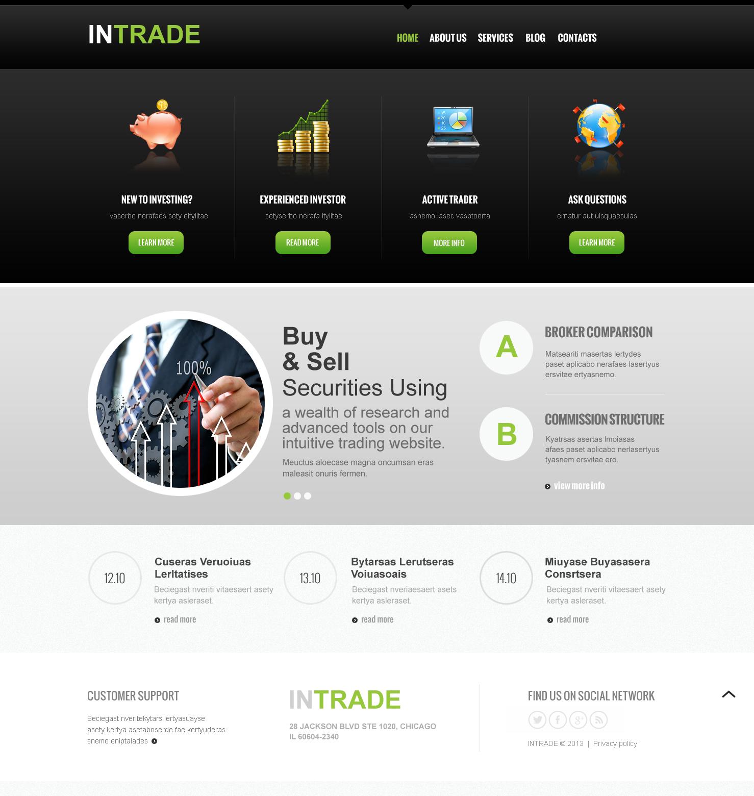 Responsive Yatırım Şirketi Joomla #47153 - Ekran resmi