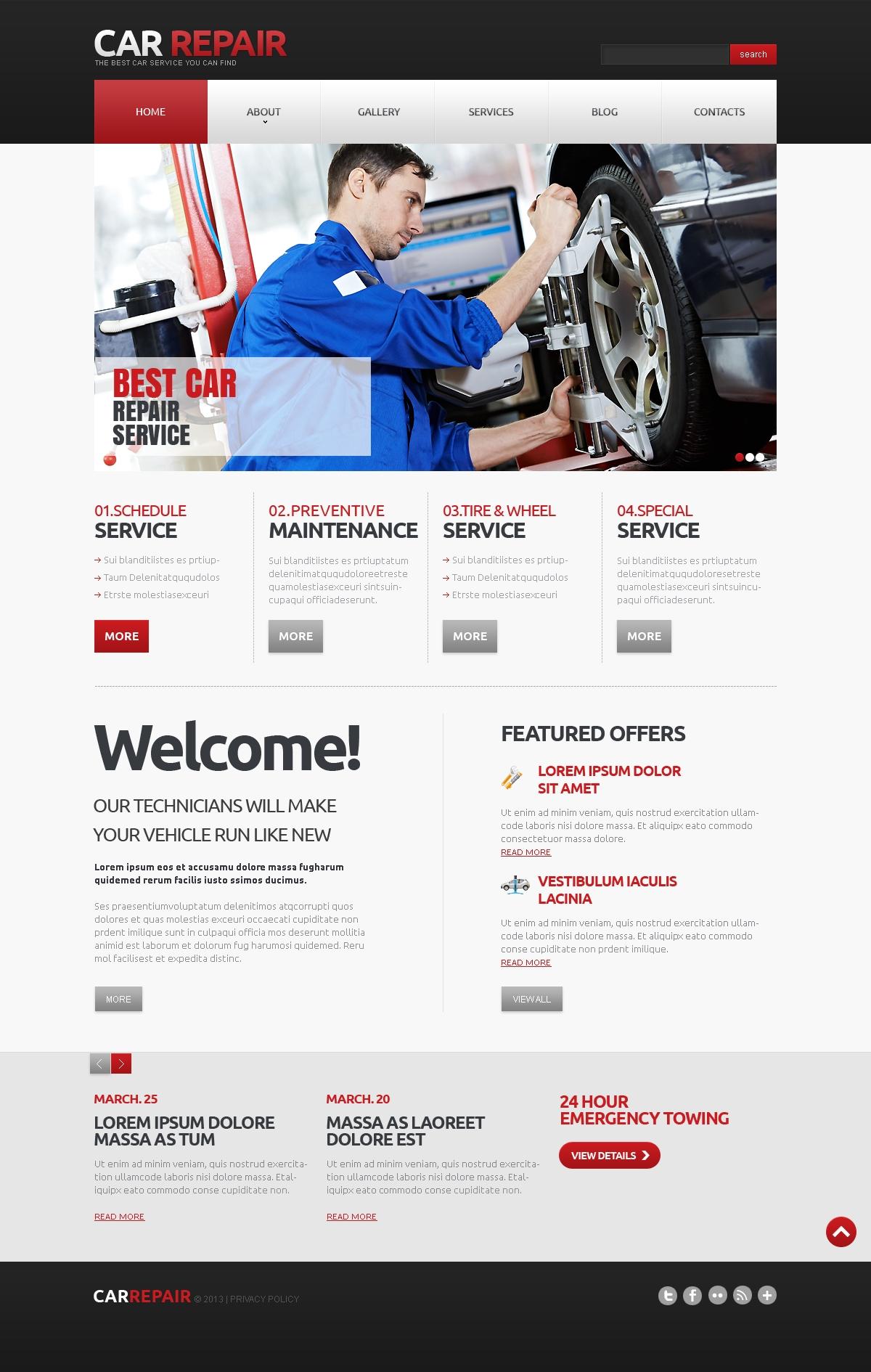 Reszponzív Autószerelői Joomla sablon 47115 - képernyőkép