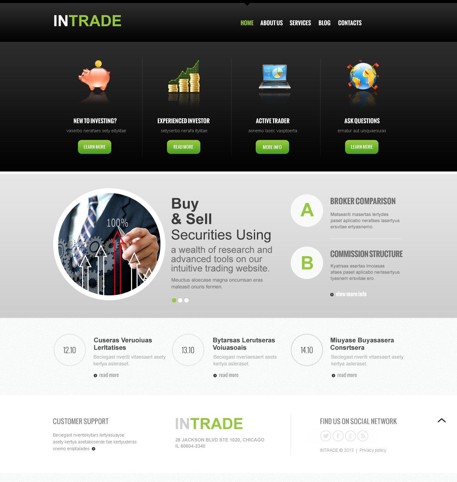 Reszponzív Befektetési társaságok témakörű Joomla sablon 47153 - képernyőkép