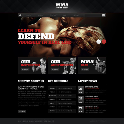 Mma - HTML5 Drupal Template
