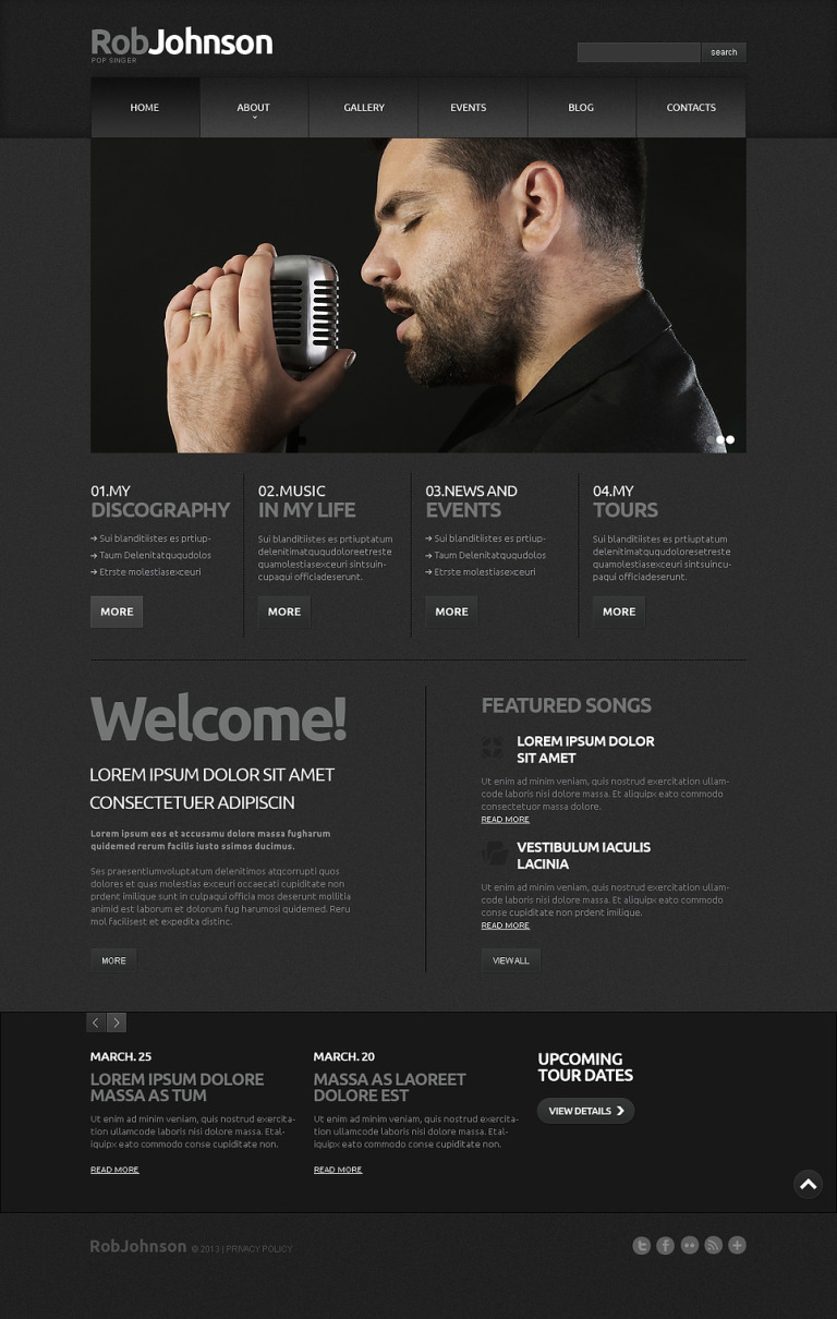 Singer Responsive Joomla Template New Screenshots BIG
