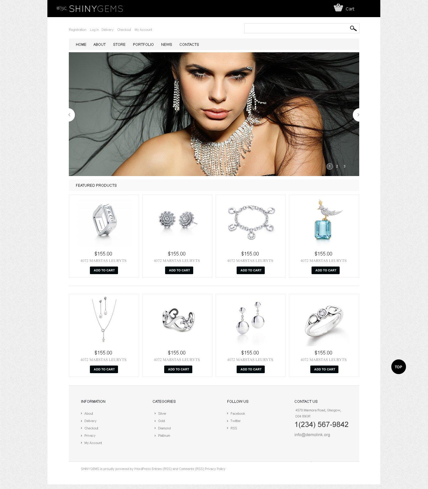 Sparkling Jewels WooCommerce Theme - screenshot