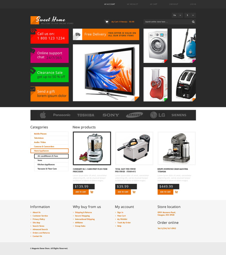Sweet Home Magento Theme New Screenshots BIG