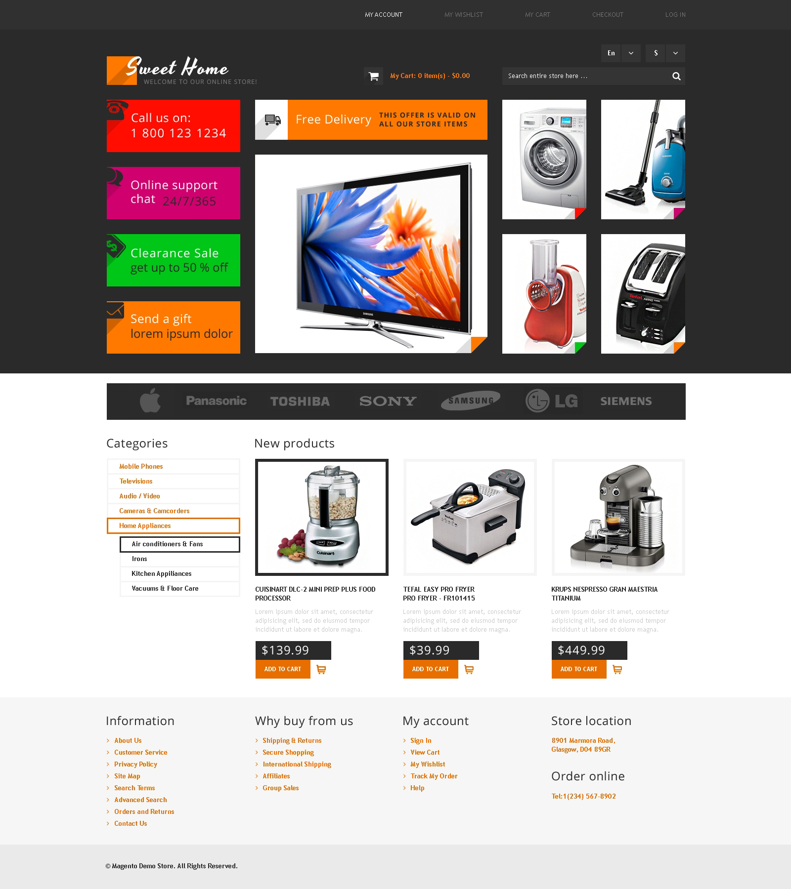 Sweet Home Magento Theme - screenshot