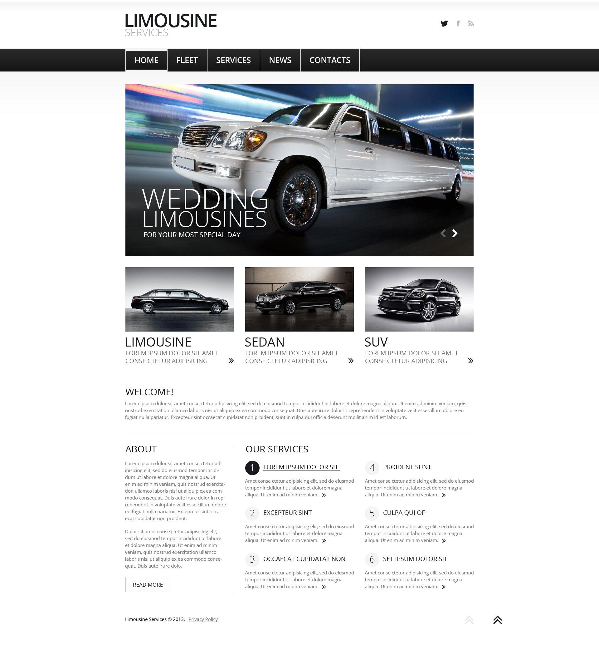 "Template Joomla Responsive #47158 ""Limousine Services"""