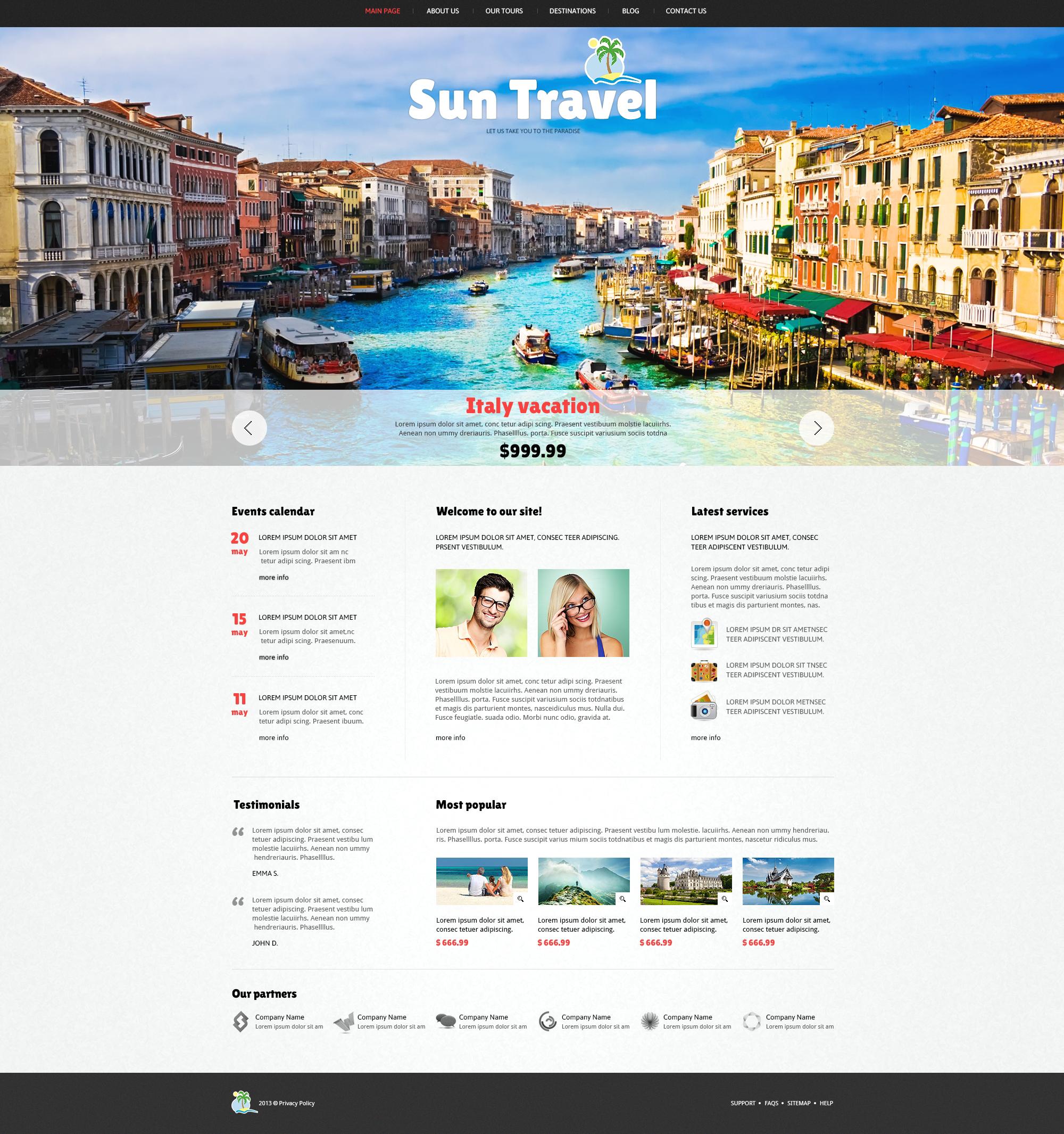 Thème Joomla adaptatif pour site d'agence de voyage #47113 - screenshot
