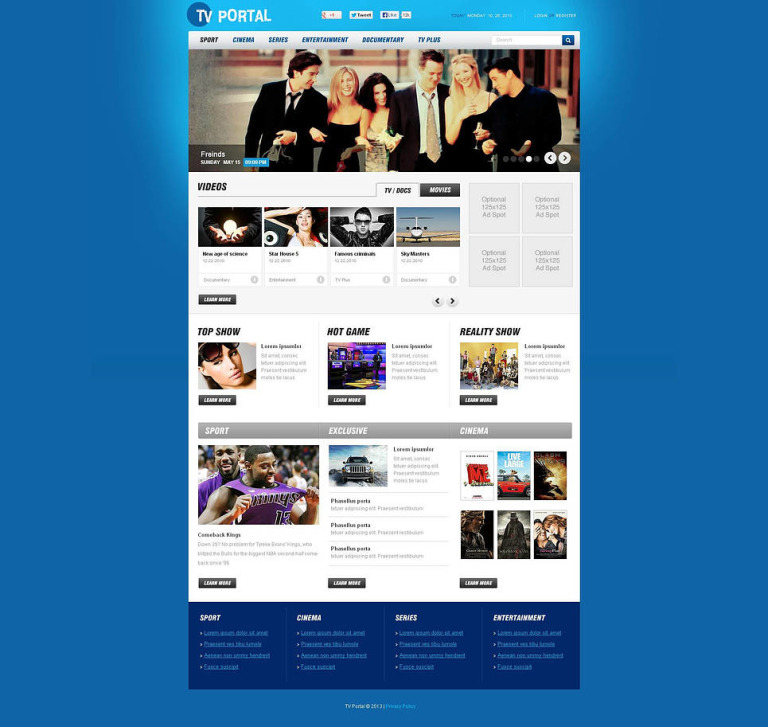 TV Channel Flash CMS Template New Screenshots BIG