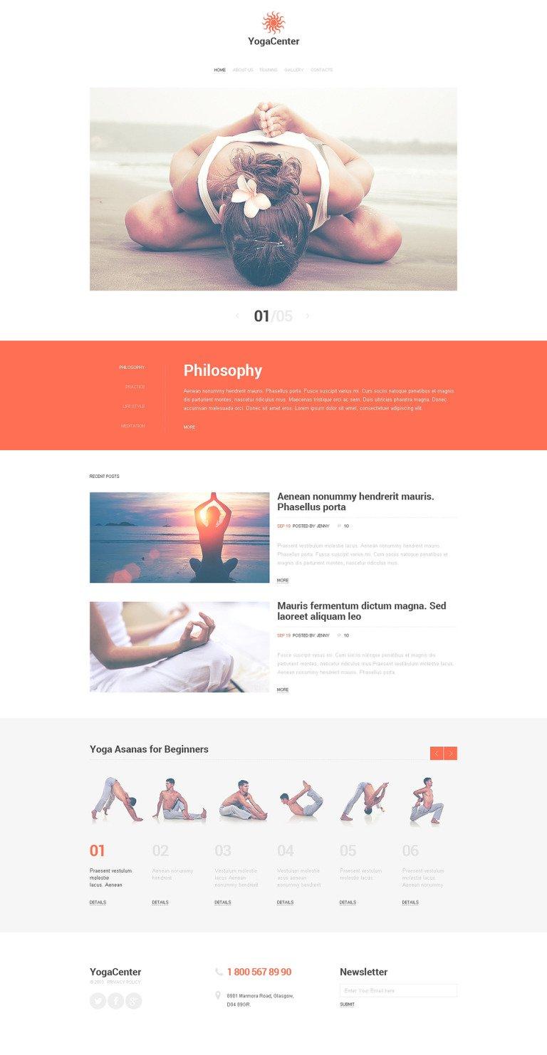Yoga Responsive Website Template New Screenshots BIG