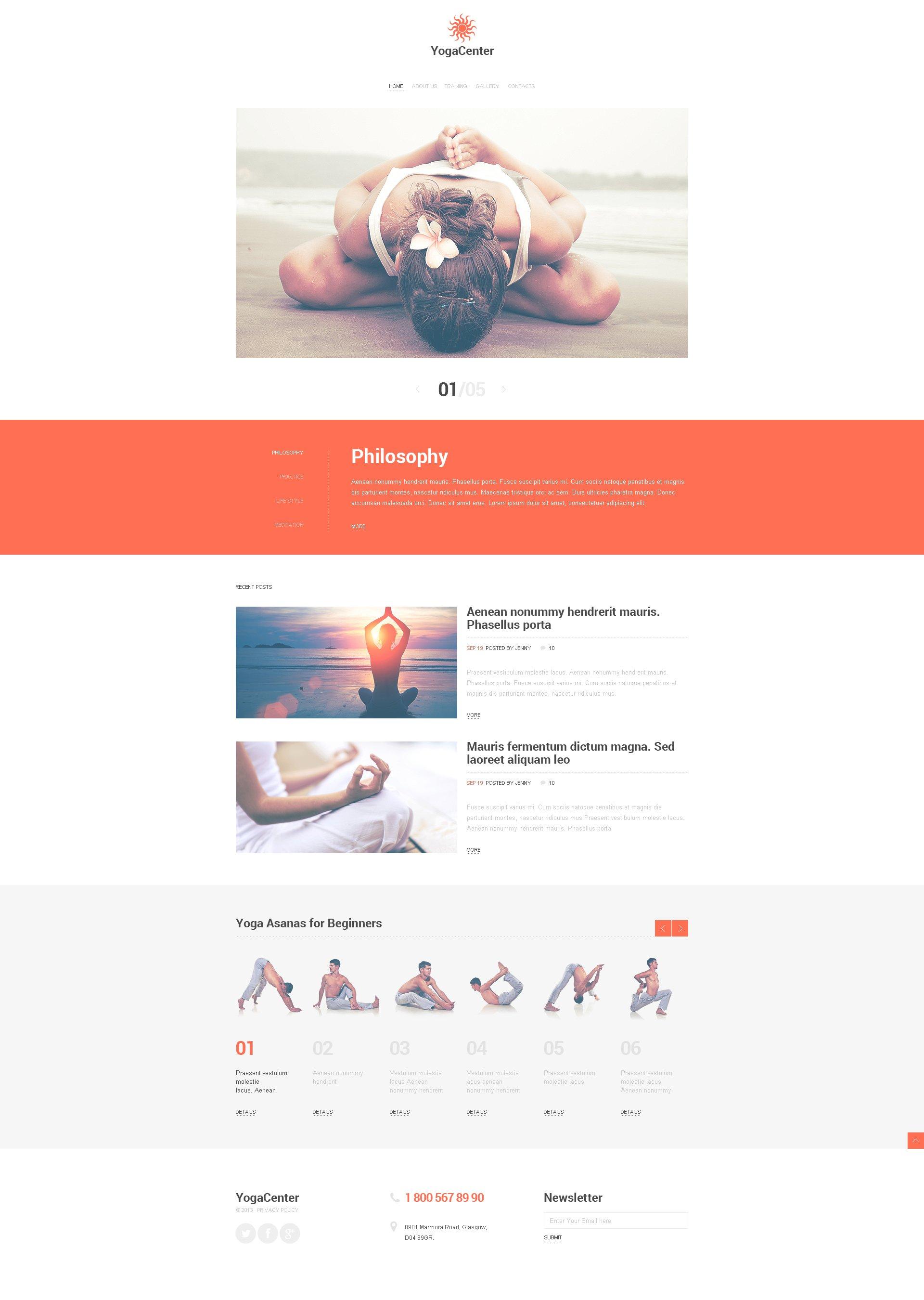 Yoga Responsive Website Template #47151