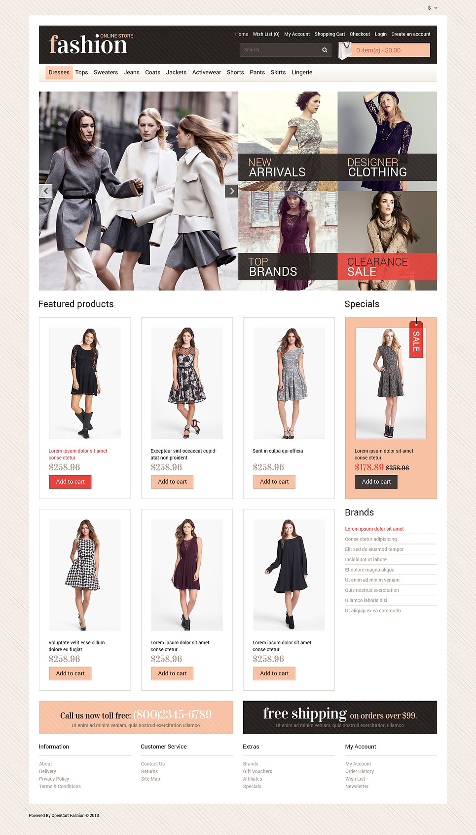 Your Fashion Store OpenCart Template New Screenshots BIG
