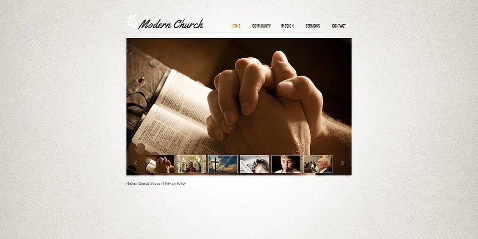 Template Moto CMS HTML para Sites de Cristão №47200 New Screenshots BIG