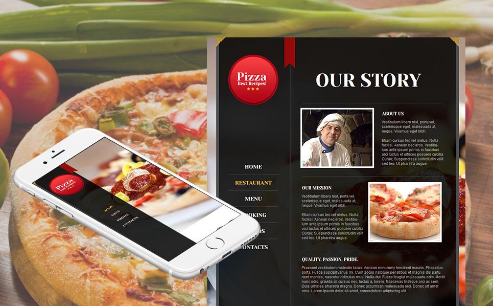 Premium Moto CMS HTML Template over Pizza  New Screenshots BIG