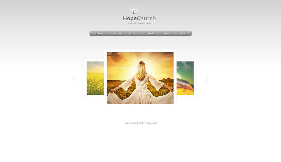 Premium Moto CMS HTML Template over Godsdienstige  New Screenshots BIG