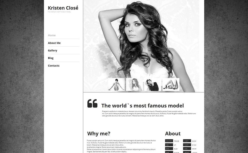 Premium Model Portföyü  Moto Cms Html Şablon New Screenshots BIG