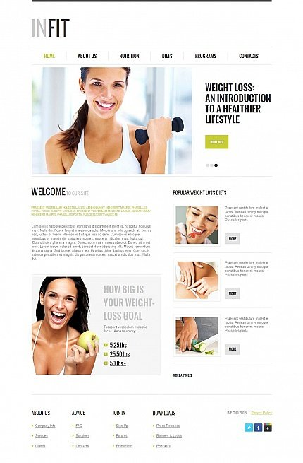 ADOBE Photoshop Template 47212 Home Page Screenshot