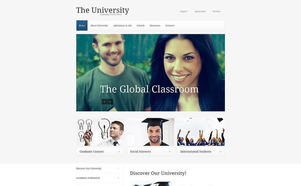 Template Moto CMS HTML para Sites de Universidades №47218 New Screenshots BIG