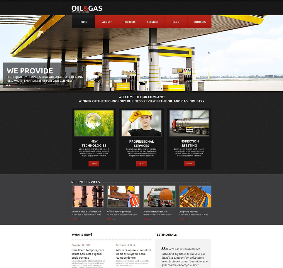 Oil and Gas Trading Website Template - image