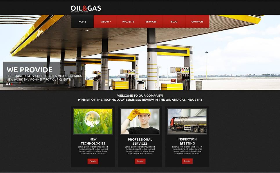 Modèle Moto CMS HTML  pour site de gaz et de pétrole New Screenshots BIG