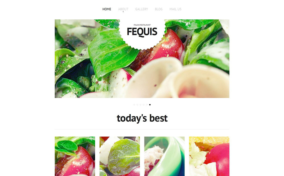 Plantilla Moto CMS HTML #47221 para Sitio de Restaurante italiano New Screenshots BIG