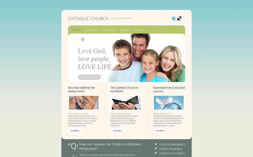 Premium Moto CMS HTML Template over Katholieke Kerk  New Screenshots BIG