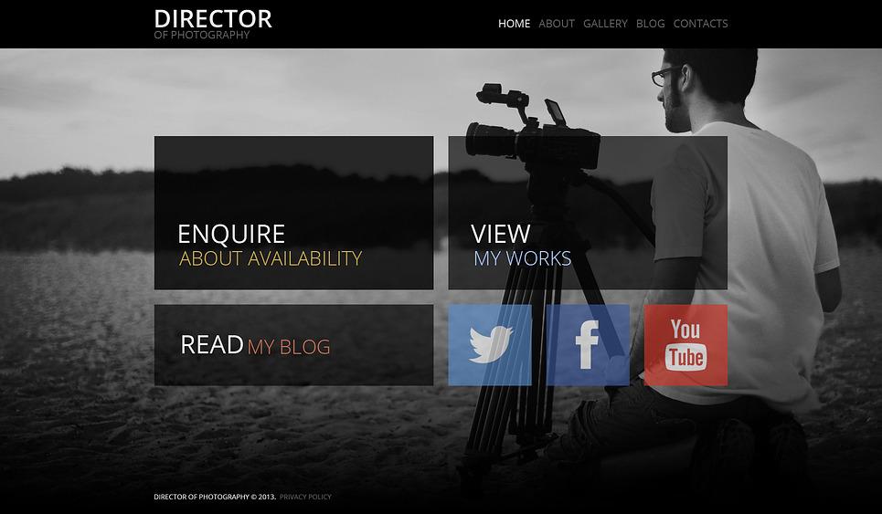 Reszponzív Fényképész portfóliók WordPress sablon New Screenshots BIG