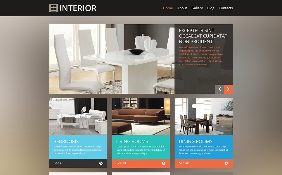 Responsive WordPress thema over Interieur-design  New Screenshots BIG