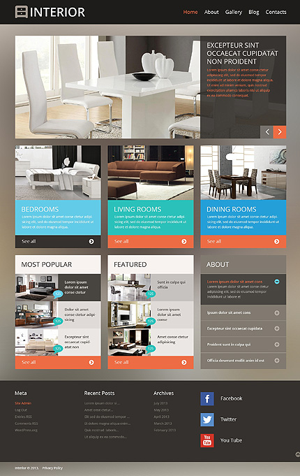 WordPress Theme/Template 47224 Main Page Screenshot