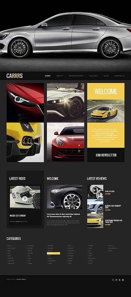 WordPress Theme/Template 47226 Main Page Screenshot