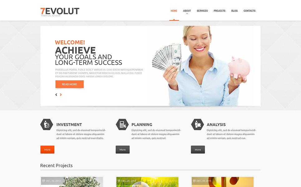 Responzivní WordPress motiv na téma Finanční poradce New Screenshots BIG