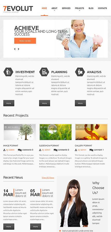WordPress Theme/Template 47231 Main Page Screenshot