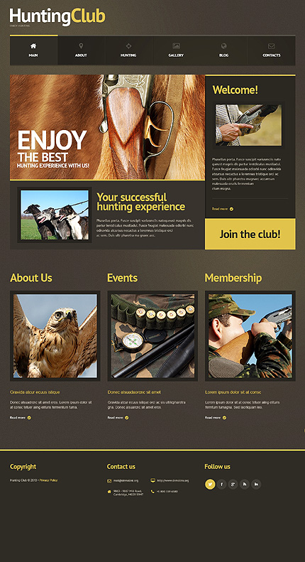WordPress Theme/Template 47233 Main Page Screenshot