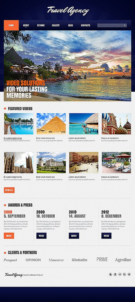 Joomla Theme/Template 47244 Main Page Screenshot