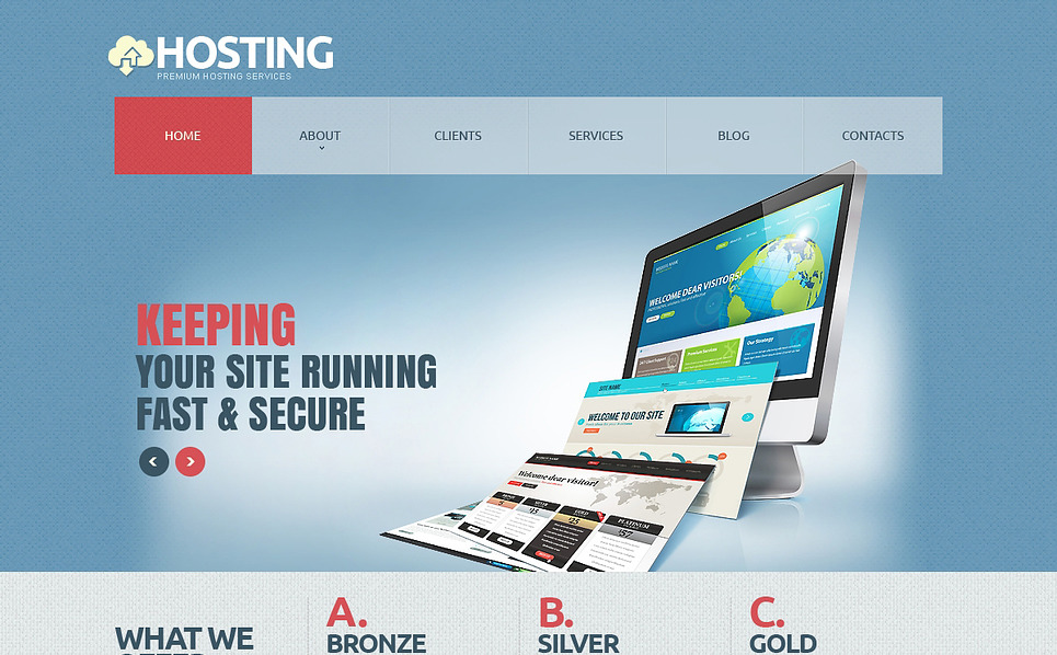 Responsive Hosting  Joomla Şablonu New Screenshots BIG
