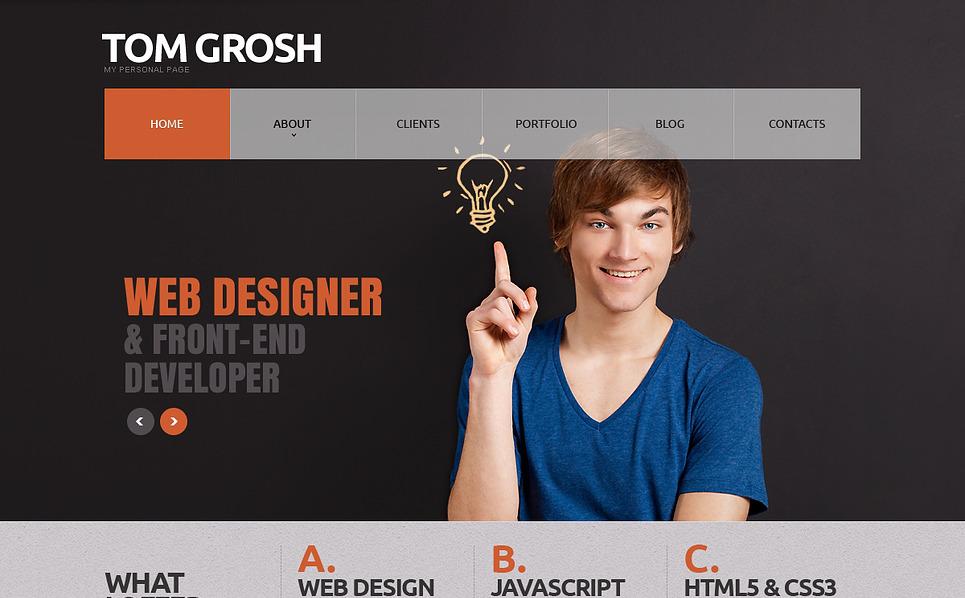 Responzivní Joomla šablona na téma Osobní stránky New Screenshots BIG