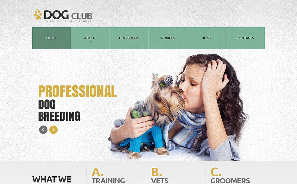 Responsive Köpek  Joomla Şablonu New Screenshots BIG