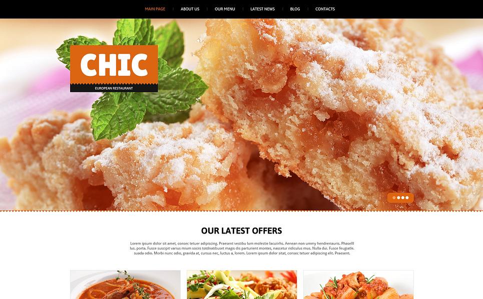 Responsive Joomla Vorlage für Europäisches Restaurant  New Screenshots BIG