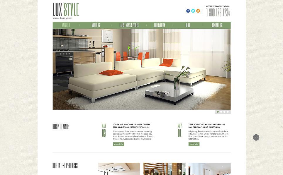 Responsive Joomla Template over Interieur-design  New Screenshots BIG