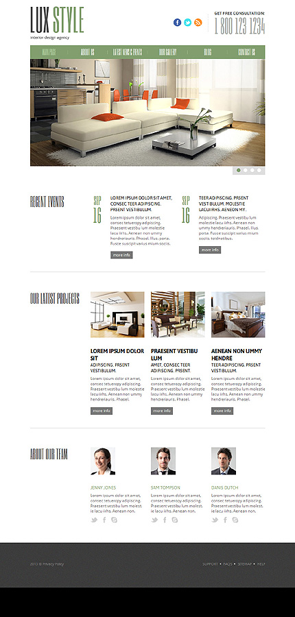 Joomla Theme/Template 47257 Main Page Screenshot