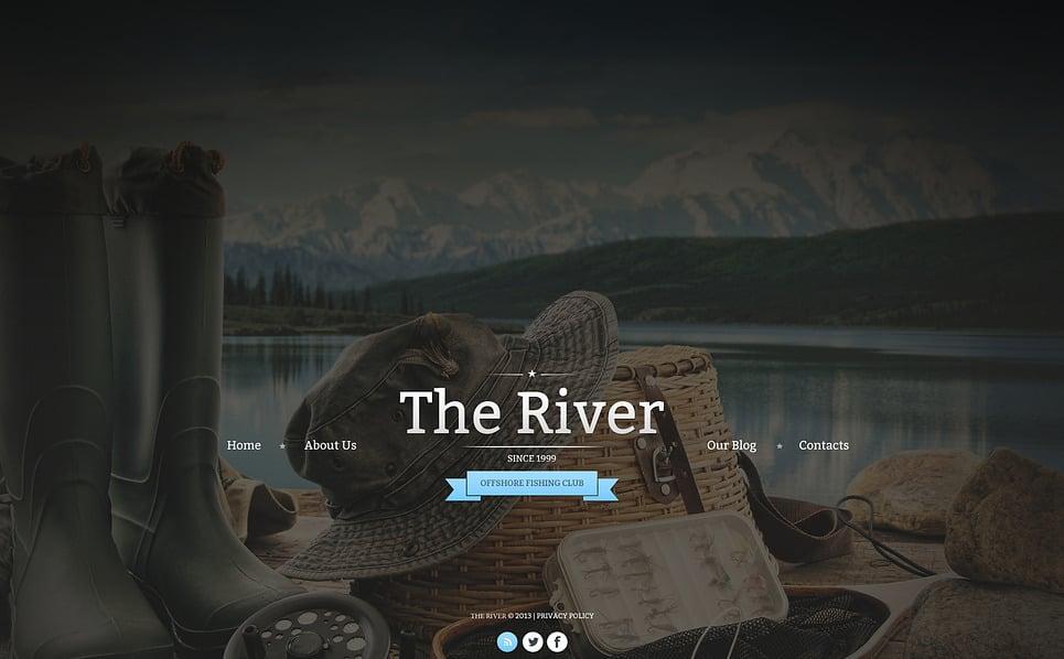 Bootstrap szablon strony www #47264 na temat: wędkarstwo New Screenshots BIG